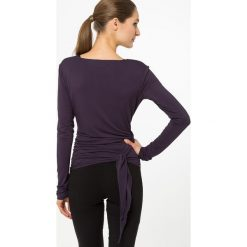 Bluzki asymetryczne: Curare Yogawear Bluzka z długim rękawem dark aubergine
