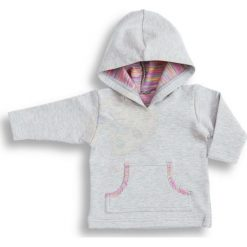 Bluza z kapturem Pink szaro-różowa r. 74 (DU-137). Czerwone bluzy niemowlęce DressUp, z kapturem. Za 41,53 zł.