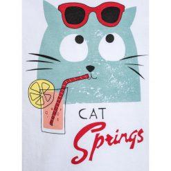 T-shirty damskie: La Queue du Chat CAT SPRING GIRL  Tshirt z nadrukiem white