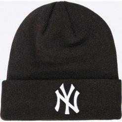 New Era - Czapka. Czarne czapki zimowe męskie New Era, z dzianiny. W wyprzedaży za 89,90 zł.