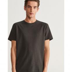 T-shirt w jodełkę - Szary. Szare t-shirty męskie Reserved, l. Za 49,99 zł.