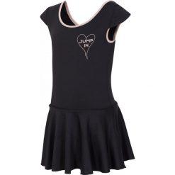 Sukienka treningowa dla małych dziewczynek JSUDD300 - czarny. Czarne bielizna dziewczęca marki 4F JUNIOR, z dzianiny. Za 39,99 zł.