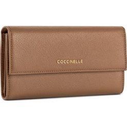 Duży Portfel Damski COCCINELLE - BW5 Metallic Soft E2 BW5 11 46 01 Cuir 012. Czarne portfele damskie marki Coccinelle. W wyprzedaży za 419,00 zł.