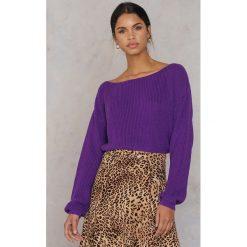 Josefin Ekström for NA-KD Krótki sweter z dzianiny - Purple. Fioletowe swetry klasyczne damskie Josefin Ekström for NA-KD, m, z bawełny. Za 161,95 zł.