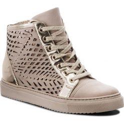 Sneakersy CARINII - B4321 504-J16-000-B67. Brązowe sneakersy damskie Carinii, z materiału. W wyprzedaży za 229,00 zł.