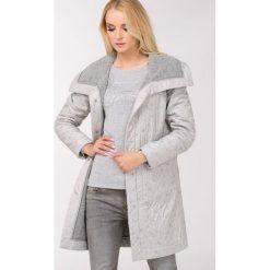 Płaszcze damskie pastelowe: Płaszcz z wełnianą podszewką