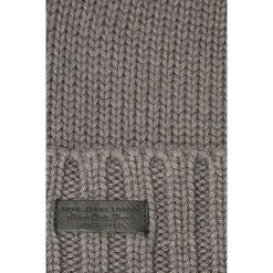 Pepe Jeans - Czapka New Ural. Szare czapki zimowe męskie Pepe Jeans, na zimę, z bawełny. W wyprzedaży za 69,90 zł.