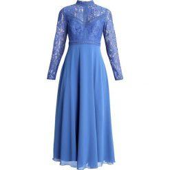 Little Mistress Długa sukienka azure blue. Niebieskie długie sukienki marki Little Mistress, z materiału, z długim rękawem. Za 399,00 zł.
