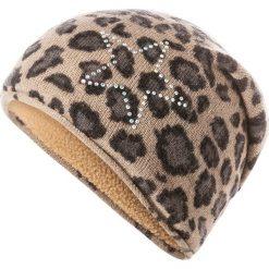 Czapka w kolorze jasnobrązowym. Brązowe czapki zimowe damskie Codello, z dzianiny. W wyprzedaży za 107,95 zł.