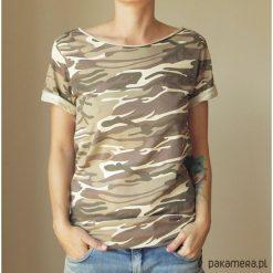 Tshirt wytarte moro Oversize S-XXL. Brązowe t-shirty damskie Pakamera, s, moro. Za 65,00 zł.
