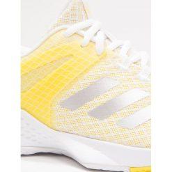 Buty sportowe damskie: adidas Performance ADIZERO CLUB  Obuwie multicourt footwear white/silver metallic/yellow