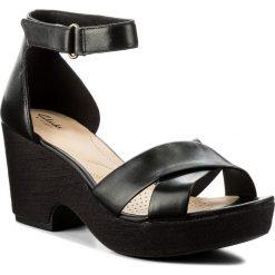 Rzymianki damskie: Sandały CLARKS – Maritsa Ruth 261317734 Black Leather