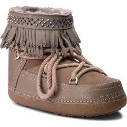 Buty INUIKII - Boot Fringes 70101-31 Taupe. Brązowe buty zimowe damskie Inuikii, z nubiku. Za 1639,00 zł.