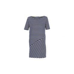 Sukienki krótkie Petit Bateau  STIMINA. Niebieskie sukienki hiszpanki Petit Bateau, s, z krótkim rękawem, mini. Za 356,30 zł.
