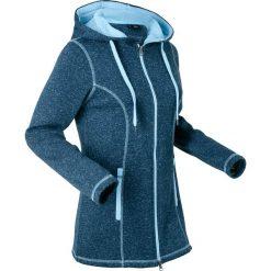 Bluzy polarowe: Bluza rozpinana dzianinowa z polaru, długi rękaw bonprix ciemnoniebieski melanż