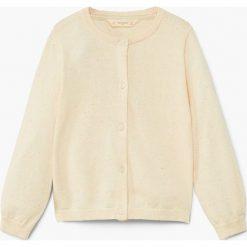 Mango Kids - Kardigan dziecięcy Emma2 104-164 cm. Różowe swetry dziewczęce marki Mayoral, z bawełny, z okrągłym kołnierzem. W wyprzedaży za 39,90 zł.