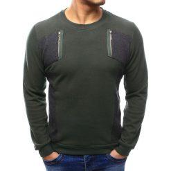 Swetry męskie: Sweter męski khaki (wx1025)