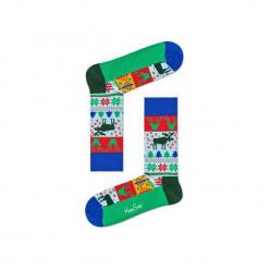 Skarpetki Happy Socks - Holiday XMAS (FAI01-7000). Szare skarpetki męskie Happy Socks, w kolorowe wzory, z bawełny. Za 34,90 zł.