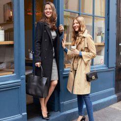 Płaszcze damskie pastelowe: Płaszcz zimowy z sukna wełnianego