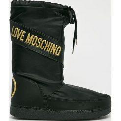 Love Moschino - Śniegowce. Czarne śniegowce damskie marki Love Moschino, z gumy. Za 499,90 zł.