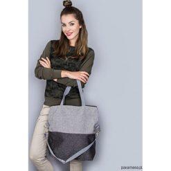 Torba Simple duo gray. Szare torebki klasyczne damskie marki Pakamera, w paski, z tkaniny. Za 129,00 zł.