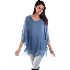 Bluzki damskie: Koszulka w kolorze niebieskim