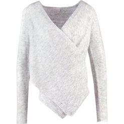 Swetry damskie: Vila VICANT WRAP Sweter light grey melange