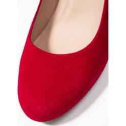 Unisa NUMIS Czółenka na platformie chilli. Czerwone buty ślubne damskie marki Unisa, z materiału, na platformie. Za 419,00 zł.
