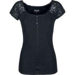 Black Premium by EMP Eternally Yours Koszulka damska czarny. Czarne bluzki z falbaną marki Black Premium by EMP, xl, z poliesteru. Za 121,90 zł.