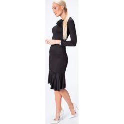 Sukienka w stylu syrena czarna 6564. Czarne sukienki marki Fasardi, l. Za 44,00 zł.