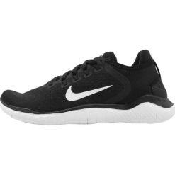 Nike Performance FREE RN 2018 Obuwie do biegania neutralne black/white. Czarne buty do biegania damskie Nike Performance, z materiału. Za 459,00 zł.