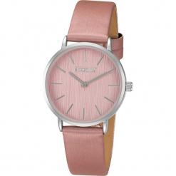 """Zegarek kwarcowy """"Ribbon"""" w kolorze jasnoróżowo-srebrnym. Czerwone, analogowe zegarki damskie METROPOLITAN, metalowe. W wyprzedaży za 99,95 zł."""