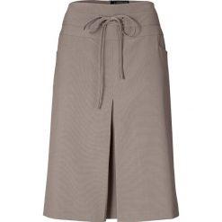 Spódniczki rozkloszowane: Spódnica w kolorze szarobrązowym
