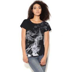 Colour Pleasure Koszulka damska CP-034  34 czarno-szaro-biała r. XS-S. Białe bluzki damskie marki Colour pleasure, s. Za 70,35 zł.