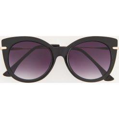 Okulary przeciwsłoneczne - Czarny. Czarne okulary przeciwsłoneczne damskie aviatory Reserved. Za 39,99 zł.