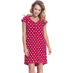 Koszula nocna dla ciężarnych i karmiących Dots. Czerwone koszule nocne i halki marki Astratex, w koronkowe wzory, z wiskozy. Za 98,99 zł.