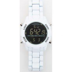 Zegarki męskie: Zegarek z regulowanym paskiem – Biały