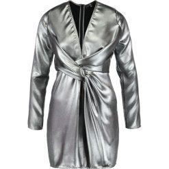 Sukienki: Missguided B&&B PLUNGE WRAP Sukienka koktajlowa silver