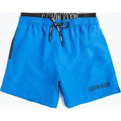 Calvin Klein - Męskie spodenki kąpielowe, niebieski. Niebieskie kąpielówki męskie marki Calvin Klein, z bawełny. Za 229,95 zł.