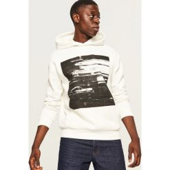 Bluza z kapturem - Kremowy. Białe bluzy męskie rozpinane marki Reserved, l, z kapturem. Za 119,99 zł.