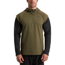 Bluzy męskie: Puma Bluza męska 1/4 Zip Energy Hoodie zielona r. S (515656 03)