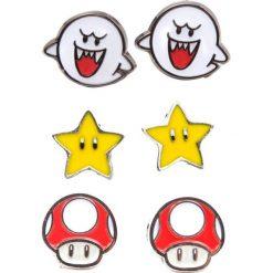 Kolczyki damskie: Super Mario Boo, Superstar & Mushroom Kolczyki - Earpin wielokolorowy