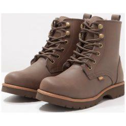 Buty zimowe damskie: Buffalo Botki sznurowane brown