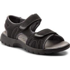 Sandały LANETTI - MS17005-1 Czarny. Czarne sandały męskie skórzane Lanetti. W wyprzedaży za 59,99 zł.