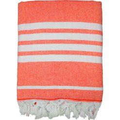 """Chusta hammam """"Ohana"""" w kolorze pomarańczowo-białym - 180 x 140 cm. Brązowe chusty damskie Le Comptoir de la Plage, z bawełny. W wyprzedaży za 86,95 zł."""