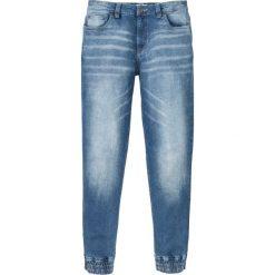 """Dżinsy ze stretchem Regular Fit Tapered bonprix jasnoniebieski """"used"""". Niebieskie jeansy męskie regular bonprix. Za 79,99 zł."""