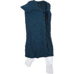 Długa tunika z kreszowanego materiału + legginsy 3/4 bonprix ciemnoniebieski. Niebieskie tuniki damskie bonprix, z okrągłym kołnierzem, z długim rękawem. Za 109,99 zł.