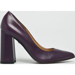 Solo Femme - Czółenka. Szare buty ślubne damskie Solo Femme, z materiału, na obcasie. W wyprzedaży za 269,90 zł.