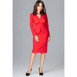 Czerwona Wizytowa Sukienka z Asymetryczna Baskinką. Zielone sukienki asymetryczne marki Mohito, l, z wykładanym kołnierzem. Za 173,90 zł.