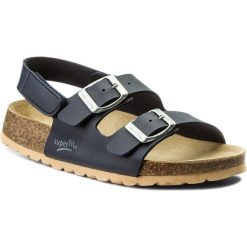 Sandały męskie skórzane: Sandały SUPERFIT – 8-00124-80 S Ocean